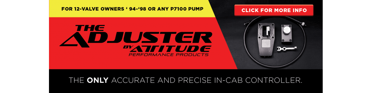 THE ADJUSTER, the only accurate and precise in-cab controller
