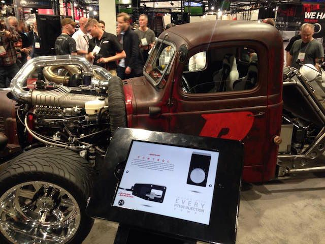 Showing off Six Pack's ADJUSTER at SEMA